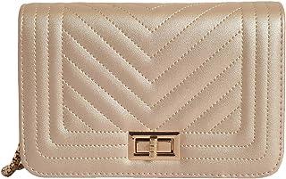 Lino Perros Golden Leatherette Sling Bag