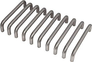 Gedotec kastgreep RVS meubelgreep keukenbooggreep 96 mm voor kastdeuren - GEOS   deurgreep RVS mat geborsteld   greep mass...