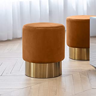 Best small round leather stool Reviews