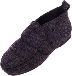ABSOLUTE FOOTWEAR Mens Orthopaedic/EEE Wide Fit Adjustable Velcro Slipper Boot/Slippers