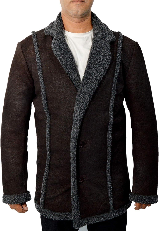Flesh & Hide F&H Men's Steve Buscemi Carl Showalter Fargo Genuine Leather Coat