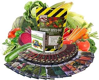 22000 بذر نباتی گیاهی غیر GMO Heirloom ، باغ زنده ماندن ، خرک بذر اورژانس ، 34 VAR ، کیسه های رفع اشکال