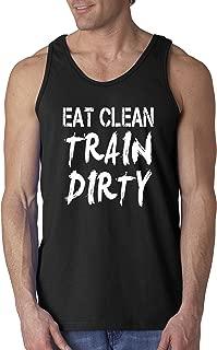339 - Men's Tank-Top Eat Clean Train Dirty Workout Training Gym
