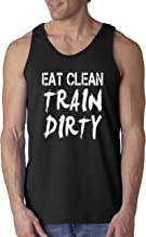 New Way 339 - Men's Tank-Top Eat Clean Train Dirty Workout Training Gym