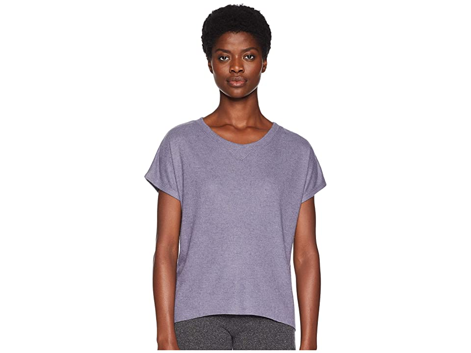Eberjey Mina The Tranquil Short Sleeve Top (Coal Blue) Women