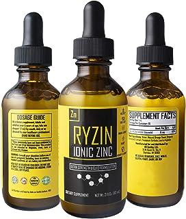 Ryzin Pure Organic Zinc liquid ionic zinc drops for adults & kids- Trace mineral elemental zinc liquid drops vitamin suppl...