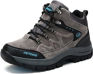 [Junior] トレッキングシューズ ハイカットメンズ 登山靴 透湿防水 ノンスリップ アウトドア スニーカー キャンプ ハイキングシューズ レディース ライト ウォーキング 大きいサイズ 3E 男女兼用 耐久性のある