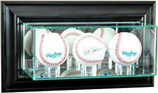 Perfect Cases MLB Wall Mounted Triple Baseball Glass Display Case