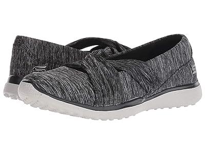 SKECHERS Microburst Knot Concerned (Black/Grey) Women