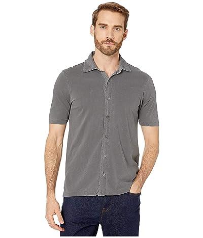 Mod-o-doc Dana Point Short Sleeve Button Front Shirt (Charcoal) Men