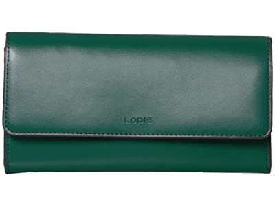 Lodis Accessories Audrey Under Lock Key RFID Luna Clutch Wallet (Ivy/Deep Plum) Wallet Handbags
