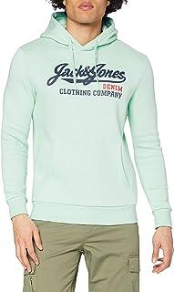 Jack & Jones Men's JJELOGO SWEAT HOOD 2 COL 20/21 NOOS Hoodie Sweatshirt