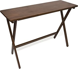 Lipper International 503WN Folding Buffet Table, Brazilian Pinewood with Walnut Finish, 42
