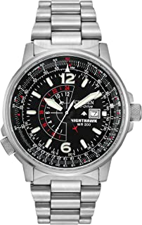 Watches BJ7000-52E Eco-Drive Nighthawk Stainless Steel Watch