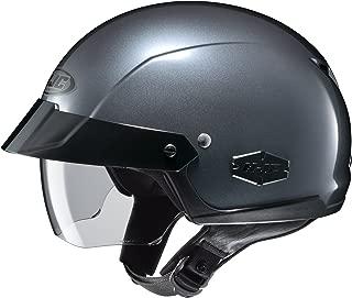 HJC Solid IS-Cruiser Half (1/2) Shell Motorcycle Helmet - Black/Medium