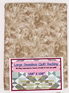 Quilt Backing, Large, Seamless, Brown/White, C49594-210