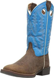 Justin Boots Kids' Chocolate Buffalo Bent Rail Boots Western