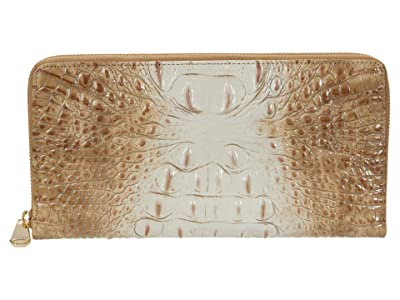 Brahmin Ombre Melbourne Skyler Clutch (Praline) Handbags