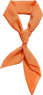 Chiffon Scarf Ribbon Neck Scarf Square Handkerchief...