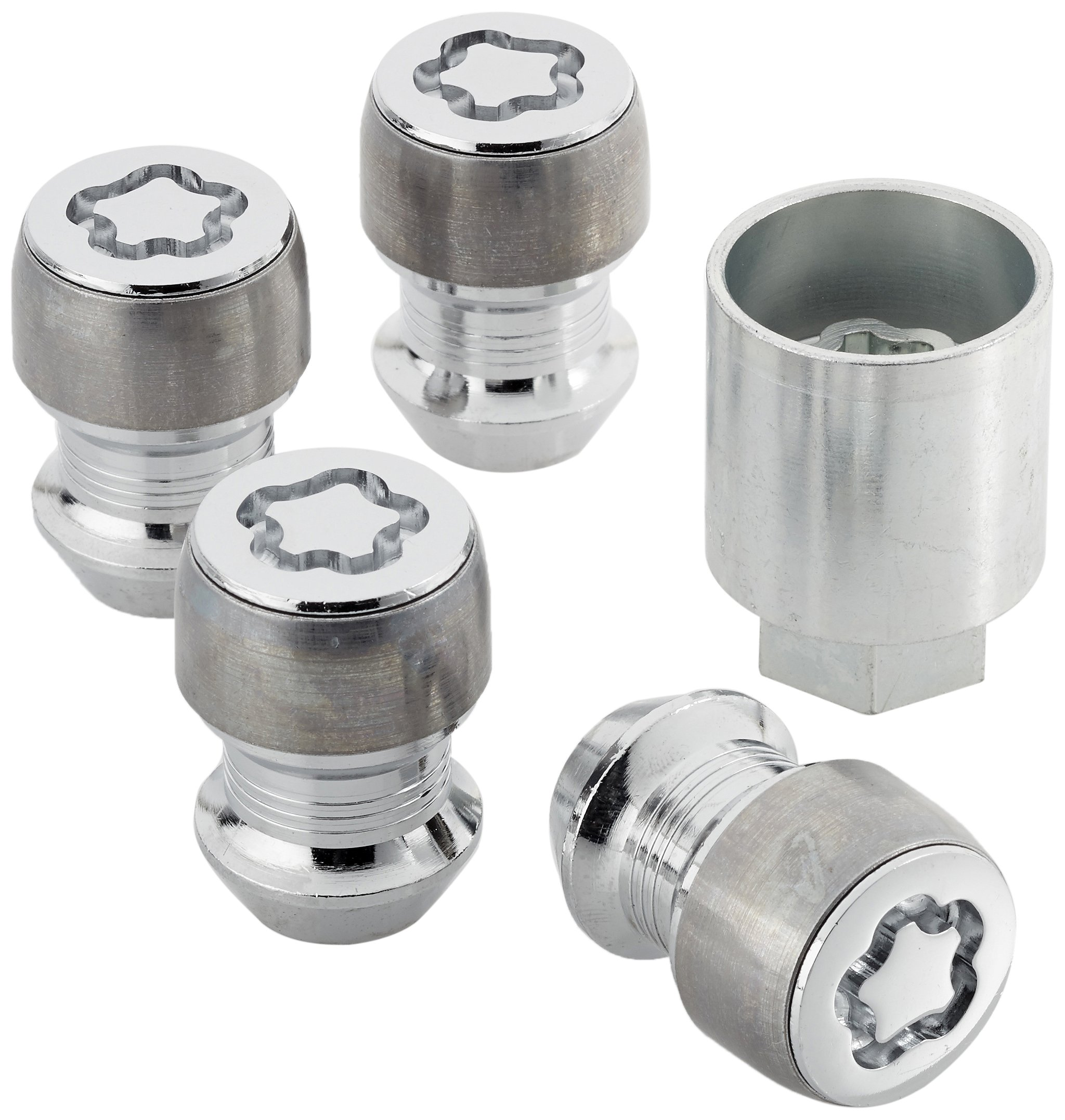 SENZEAL 4x Anti Theft Locking Tool Set M12 X 1.5 Hex Wheel Locking Nuts with Key