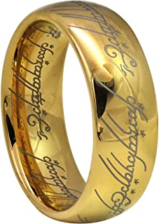 Kingary 6mm 8mm The Magic Ring Gold Plated Tungsten Carbide Ring Band for Men Women Comfort Fit Size 4 to 16