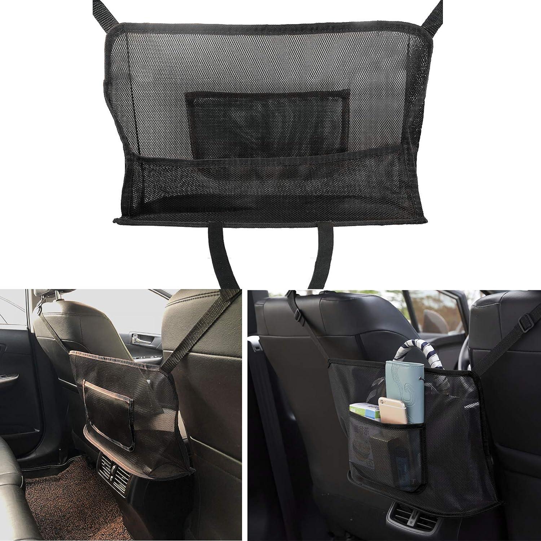 MIUJEE Car Mesh Organizer Manufacturer OFFicial sold out shop Net Fron Holder Between Handbag Pocket
