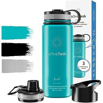 Color Azul Capacidad 0.5L PracticFood Termo Laken para L/íquidos en Acero Inoxidable 18//8 con Doble Pared de Vac/ío