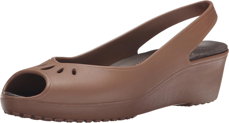 Crocs Women's Mabyn Slingback Mini Wedge