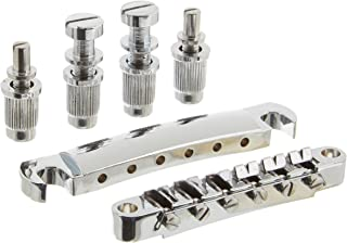 lotmusic A0086Lotmusic 1set ABR-1 Style Tune-o-matic Bridge & Tailpiece Chrome for Gibson Les Paul Gear Replacement