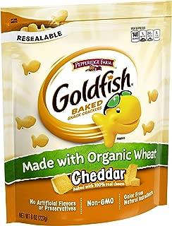 Pepperidge Farm, Goldfish, Crackers, Made with Organic Wheat, Cheddar, 8 oz, Resealable Bag