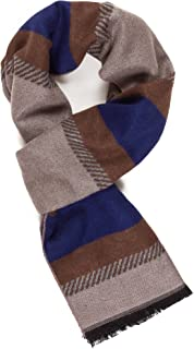 Scarf for Men Reversible Elegant Classic Cashmere Feel Scarves for Spring Winter