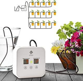 [Upgraded Pump] Big Power Automatic Drip Irrigation Kit, Indoor Plants Self Watering System with 0.5-30 Day Interval Programmable Timer,for 15 Potted Plants, Watering on Working Days