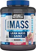 Applied Nutrition Critical Mass Protein Powder High Mass Gainer Serious Weight Gain Supplement with BCAA HMB Glutamine Leucine Creatine 2 4kg – 16 Servings White Chocolate Raspberry Estimated Price : £ 33,90