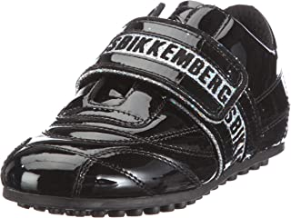 Bikkembergs Soccer Patent/Glitter DK.Grey/Silver BKJ101517 - Zapatillas de Charol para niños