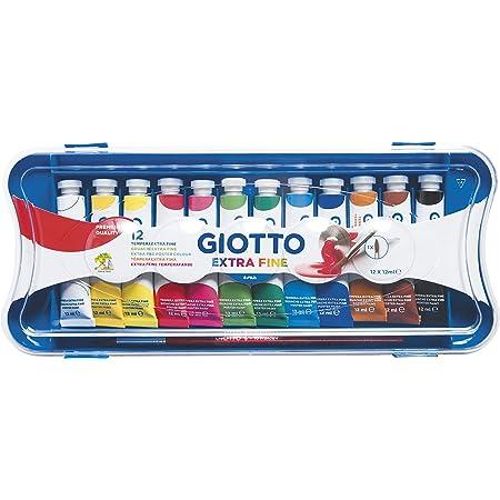 Giotto 304000 - Tempera Extra in Tubetto 12 ml, 12 Colori, 12 Pezzi