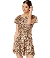 Rebecca Taylor - Short Sleeve Leopard Jersey Dress