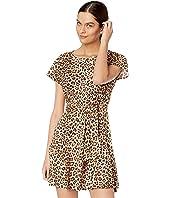 Rebecca Taylor - Short Sleeve Leopard Jersey Dress