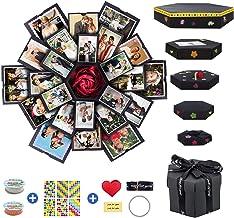 Creative Explosion Box 6 Faces Photo Album Box, Love Memory DIY Handmade Photo Album Scrapbook, Surprise Box for Birthday,...