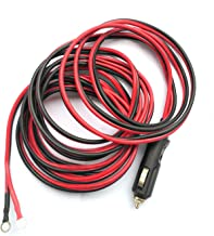 12V 15A Heavy Duty Male to Male Cigarette Lighter Plug Charger Cord With LED Lights And Fuse Protection On Both Plugs