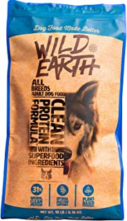 Wild Earth Healthy High-Protein Formula Dry Dog Food with No Filler Ingredients, Veterinarian-Developed Vegan Pet Food for...