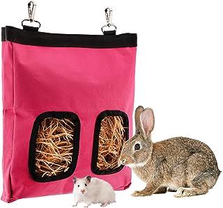 LUTER 28x23x2cm Bolsa de alimentación de heno de Conejillo de Indias Bolsa de heno de Conejo Saco alimentador Colgante, Ma...