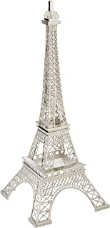Eiffel Tower Paris France Silver Metal Tower Display Stand Party Favor (15