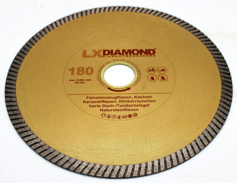 LXDIAMOND Diamant-Trennscheibe 180mm x 22,23mm Profi Diamantscheibe f/ür Fliesen Feinsteinzeug Bodenfliesen Kreamik Natursteinfliesen Klinkerriemchen 180 mm