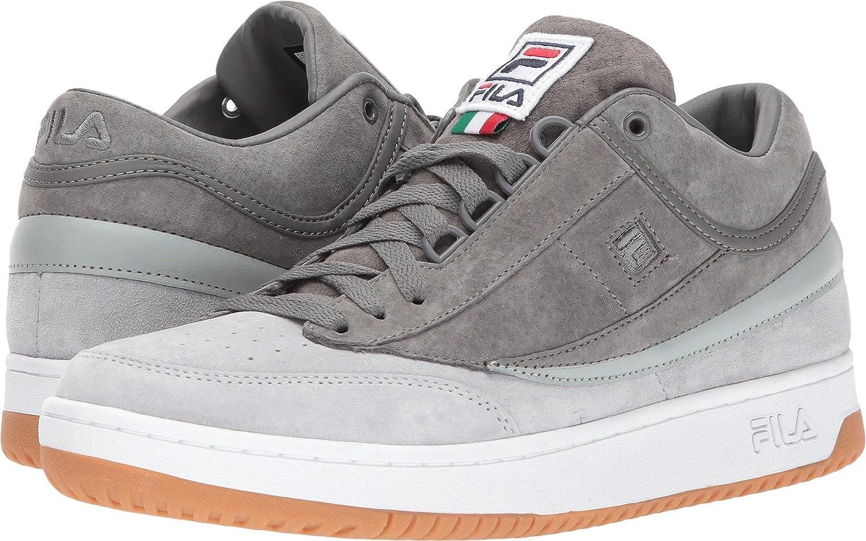 Fila Men's T-1 Mid Outdoor Sneakers, Grey, Leather, Suede, 7.5 M