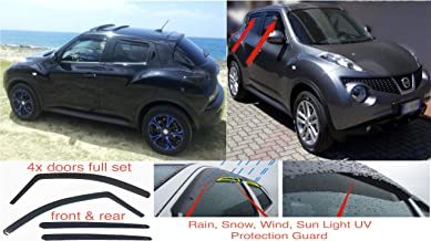 Rear ClimAir CL 4335D Window Visors Master Dark Suitable for Nissan Juke 5 Doors 2011