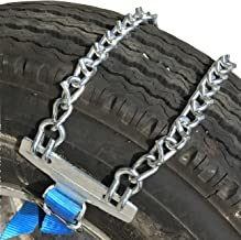 Tire Chains Emergency Strap on Tire Chains for SUV's and Pick-Up Trucks, one Pair