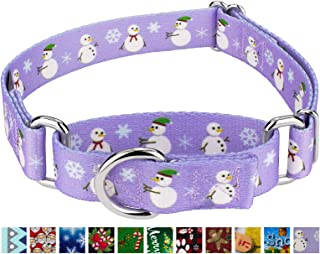Country Brook Petz - Martingale Dog Collar - Christmas Collection with 15 Festive Designs