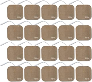 TENS Wired Electrodes Compatible with TENS 7000, Premium Replacement Pads for TENS Units, Discount TENS Brand (2in x 2in, ...