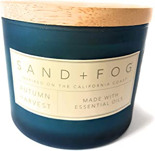 Sand And Fog Autumn Harvest Essential Oils Double Wick Candle 12 Oz