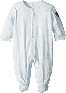 Versace Kids All Over Printed Footie (Infant)